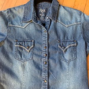 Wrangler Rock 47 Denim and Silver Women's Shirt